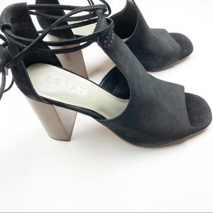 1. State Shoes - 1. State Tilya Bootie Profile Sandal Block Heel